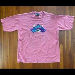 VTG Pink Kauai Hawaii Made in USA Striped T Shirt